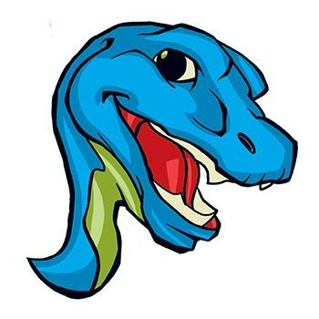 Blue Dinosaur Design Water Transfer Temporary Tattoo(fake Tattoo) Stickers NO.13523