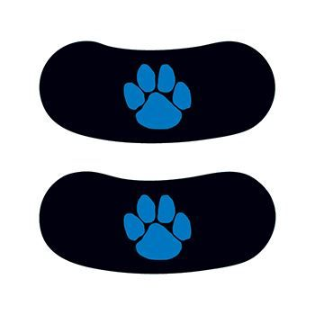 Blue Paw Eyeblack Design Water Transfer Temporary Tattoo(fake Tattoo) Stickers NO.14649