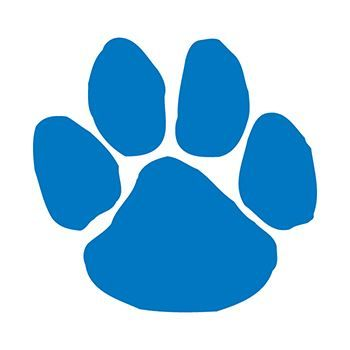 Blue Paw Print Design Water Transfer Temporary Tattoo(fake Tattoo) Stickers NO.15080