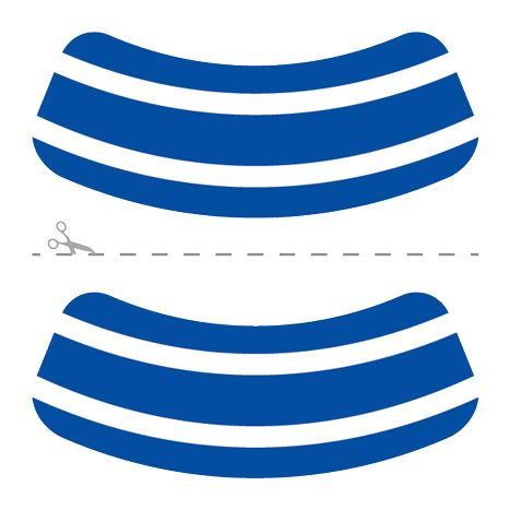 Blue & White Eye Black Design Water Transfer Temporary Tattoo(fake Tattoo) Stickers NO.14647