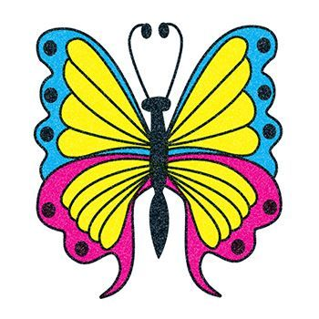 Blue, Yellow & Pink Glitter Butterfly Design Water Transfer Temporary Tattoo(fake Tattoo) Stickers NO.13527