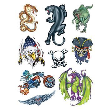 Boys World Set ofs Design Water Transfer Temporary Tattoo(fake Tattoo) Stickers NO.13881