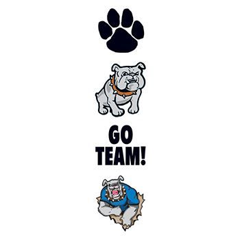 Bulldog Team Mascot Design Water Transfer Temporary Tattoo(fake Tattoo) Stickers NO.12951