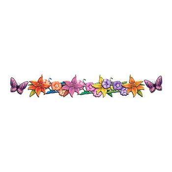 Butterflies and Flowers Band Design Water Transfer Temporary Tattoo(fake Tattoo) Stickers NO.12294