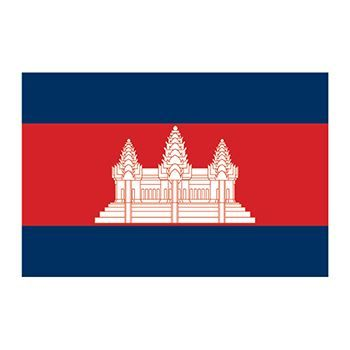 Cambodia Flag Design Water Transfer Temporary Tattoo(fake Tattoo) Stickers NO.11902