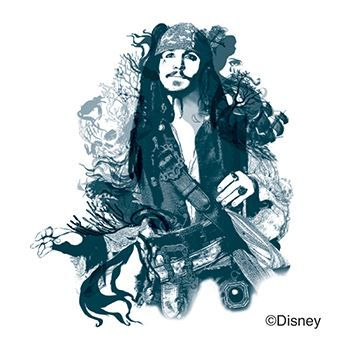 Captain Jack Sparrow Design Water Transfer Temporary Tattoo(fake Tattoo) Stickers NO.13946