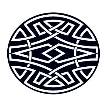 Celtic Circle Design Water Transfer Temporary Tattoo(fake Tattoo) Stickers NO.11927