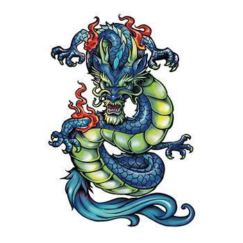 Chinese Dragon Design Water Transfer Temporary Tattoo(fake Tattoo) Stickers NO.11882