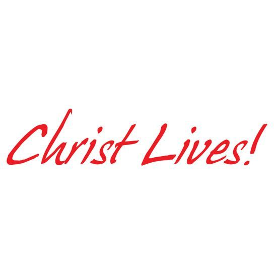Christ Lives Design Water Transfer Temporary Tattoo(fake Tattoo) Stickers NO.12942