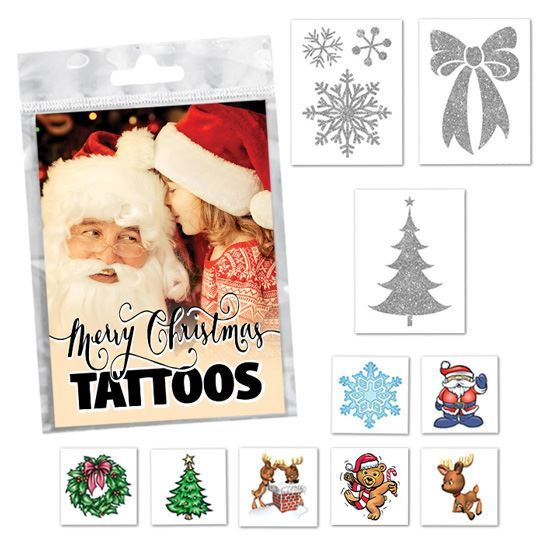 Christmas Stocking Stuffers Design Water Transfer Temporary Tattoo(fake Tattoo) Stickers NO.14143
