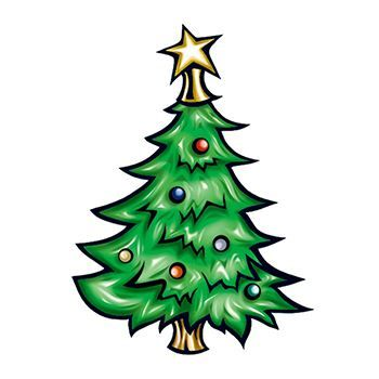 Christmas Tree Design Water Transfer Temporary Tattoo(fake Tattoo) Stickers NO.12884