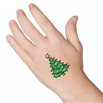 Christmas Tree Tattoo Ideas.Christmas Tree Design Water Transfer Temporary Tattoo Fake