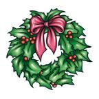 Christmas Wreath Design Water Transfer Temporary Tattoo(fake Tattoo) Stickers NO.12901