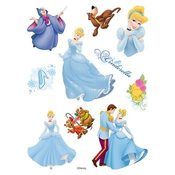 Cinderella Assortment ofs Design Water Transfer Temporary Tattoo(fake Tattoo) Stickers NO.14133