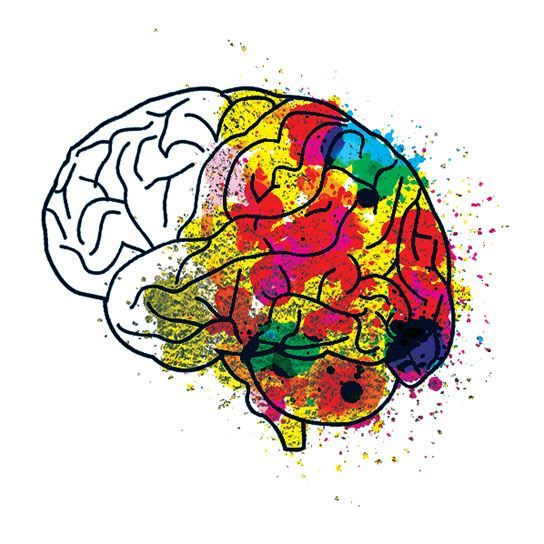 Creative Brain Metallic Design Water Transfer Temporary Tattoo(fake Tattoo) Stickers NO.14193