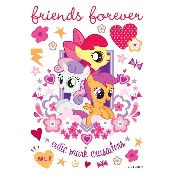 Cutie Mark Crusaders Design Water Transfer Temporary Tattoo(fake Tattoo) Stickers NO.14058