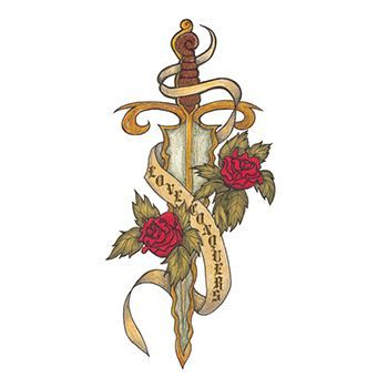 Dagger Design Water Transfer Temporary Tattoo(fake Tattoo) Stickers NO.13252