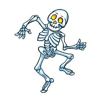 Dancing Skeleton Design Water Transfer Temporary Tattoo(fake Tattoo) Stickers NO.13381