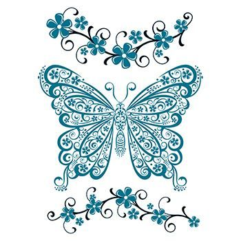 Detailed Butterfly Design Water Transfer Temporary Tattoo(fake Tattoo) Stickers NO.12282