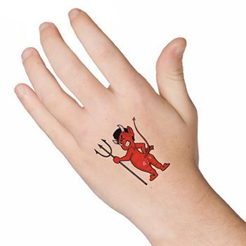 Devil with Pitchfork Design Water Transfer Temporary Tattoo(fake Tattoo) Stickers NO.13154