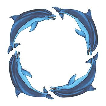 Dolphin Ring Design Water Transfer Temporary Tattoo(fake Tattoo) Stickers NO.13645