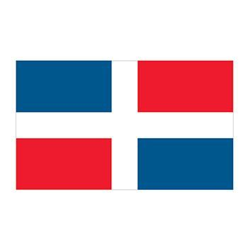 Dominican Republic Flag Design Water Transfer Temporary Tattoo(fake Tattoo) Stickers NO.12791
