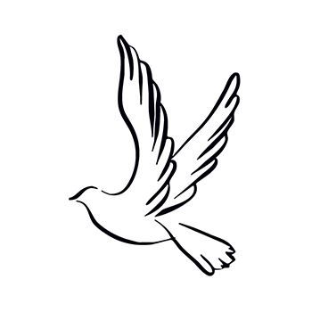 Dove Design Water Transfer Temporary Tattoo(fake Tattoo) Stickers NO.13603