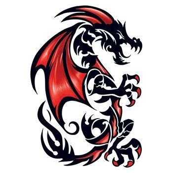 Draco Dragon Large Design Water Transfer Temporary Tattoo(fake Tattoo) Stickers NO.12653