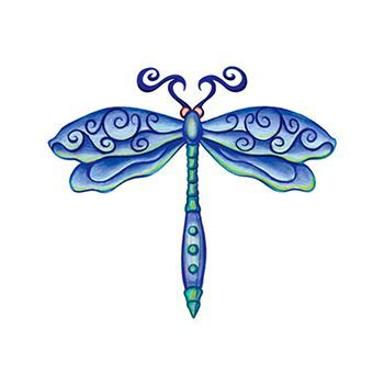 Dragonfly Design Water Transfer Temporary Tattoo(fake Tattoo) Stickers NO.13795
