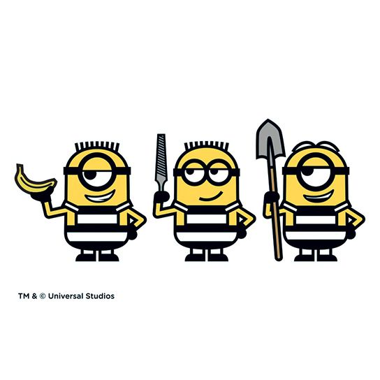 Prison Minions Design Water Transfer Temporary Tattoo(fake Tattoo) Stickers NO.13941