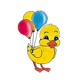 Duck with Balloonss Design Water Transfer Temporary Tattoo(fake Tattoo) Stickers NO.13606