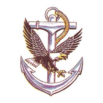 Eagle and Anchor Design Water Transfer Temporary Tattoo(fake Tattoo) Stickers NO.12056