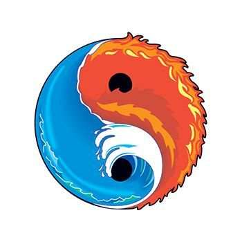 Elements Yin Yang Design Water Transfer Temporary Tattoo(fake Tattoo) Stickers NO.11852