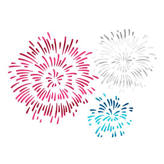 Exploding Fireworks (Small) Design Water Transfer Temporary Tattoo(fake Tattoo) Stickers NO.14119