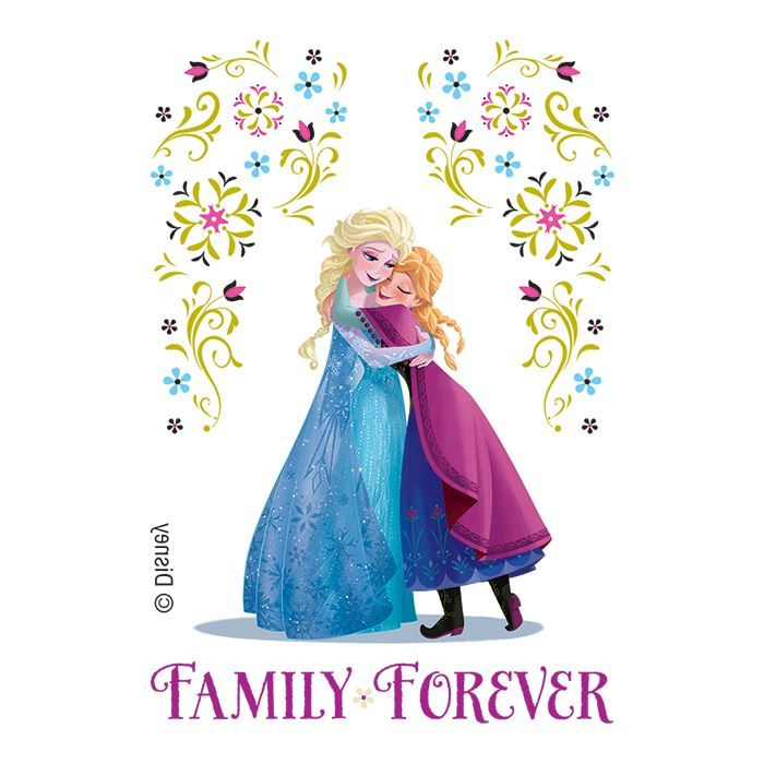 Family is Forever Design Water Transfer Temporary Tattoo(fake Tattoo) Stickers NO.14043