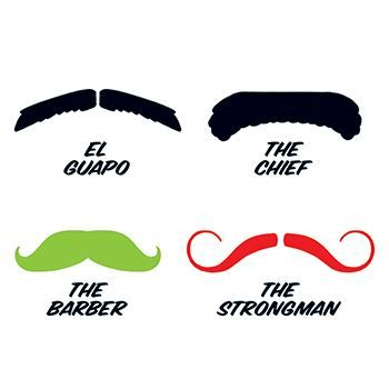 Fingerstaches: El Guapo Design Water Transfer Temporary Tattoo(fake Tattoo) Stickers NO.14279