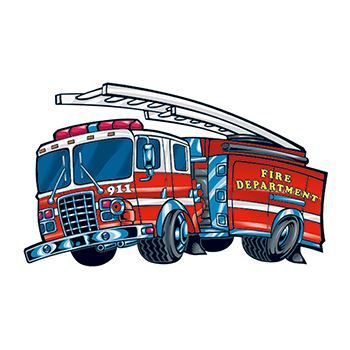 Fire Engine Design Water Transfer Temporary Tattoo(fake Tattoo) Stickers NO.13924
