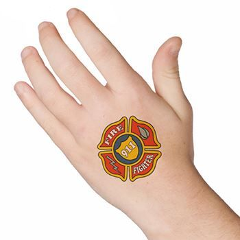 Firefighter Patch Design Water Transfer Temporary Tattoo(fake Tattoo) Stickers NO.13149
