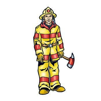 Fireman Design Water Transfer Temporary Tattoo(fake Tattoo) Stickers NO.13926