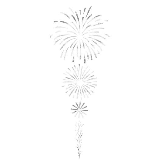 Silver Fireworks Design Water Transfer Temporary Tattoo(fake Tattoo) Stickers NO.14108