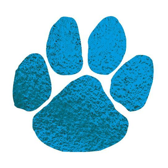 Metallic Blue Paw Design Water Transfer Temporary Tattoo(fake Tattoo) Stickers NO.14660