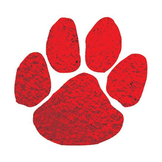 Metallic Red Paw Design Water Transfer Temporary Tattoo(fake Tattoo) Stickers NO.14865