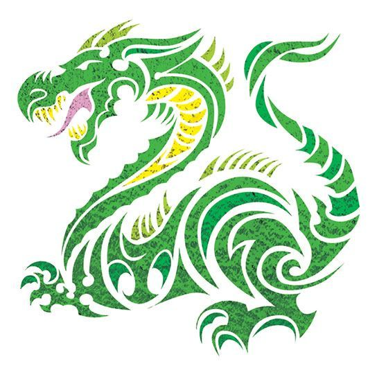 Metallic Tribal Dragon Design Water Transfer Temporary Tattoo(fake Tattoo) Stickers NO.14227