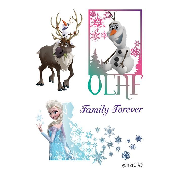 Frozen Family Assortment Design Water Transfer Temporary Tattoo(fake Tattoo) Stickers NO.14129