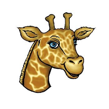 Giraffe Head Design Water Transfer Temporary Tattoo(fake Tattoo) Stickers NO.13668