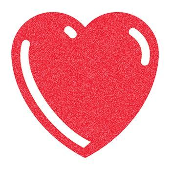 Glitter Basic Red Heart Design Water Transfer Temporary Tattoo(fake Tattoo) Stickers NO.14305