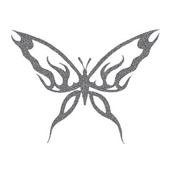 Glitter Black Butterfly Design Water Transfer Temporary Tattoo(fake Tattoo) Stickers NO.14314