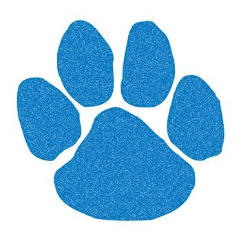 Glitter Blue Paw Print Design Water Transfer Temporary Tattoo(fake Tattoo) Stickers NO.14330