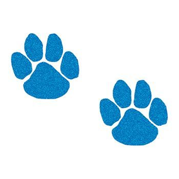 Glitter Blue Paw Printss Design Water Transfer Temporary Tattoo(fake Tattoo) Stickers NO.14332