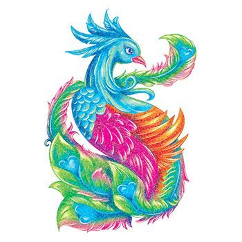 Glitter Blue Peacock Design Water Transfer Temporary Tattoo(fake Tattoo) Stickers NO.13655